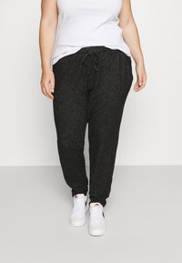 CAPSULE by Simply Be - SOFT TOUCH JOGGER - Tracksuit bottoms - charcoal marl - 0