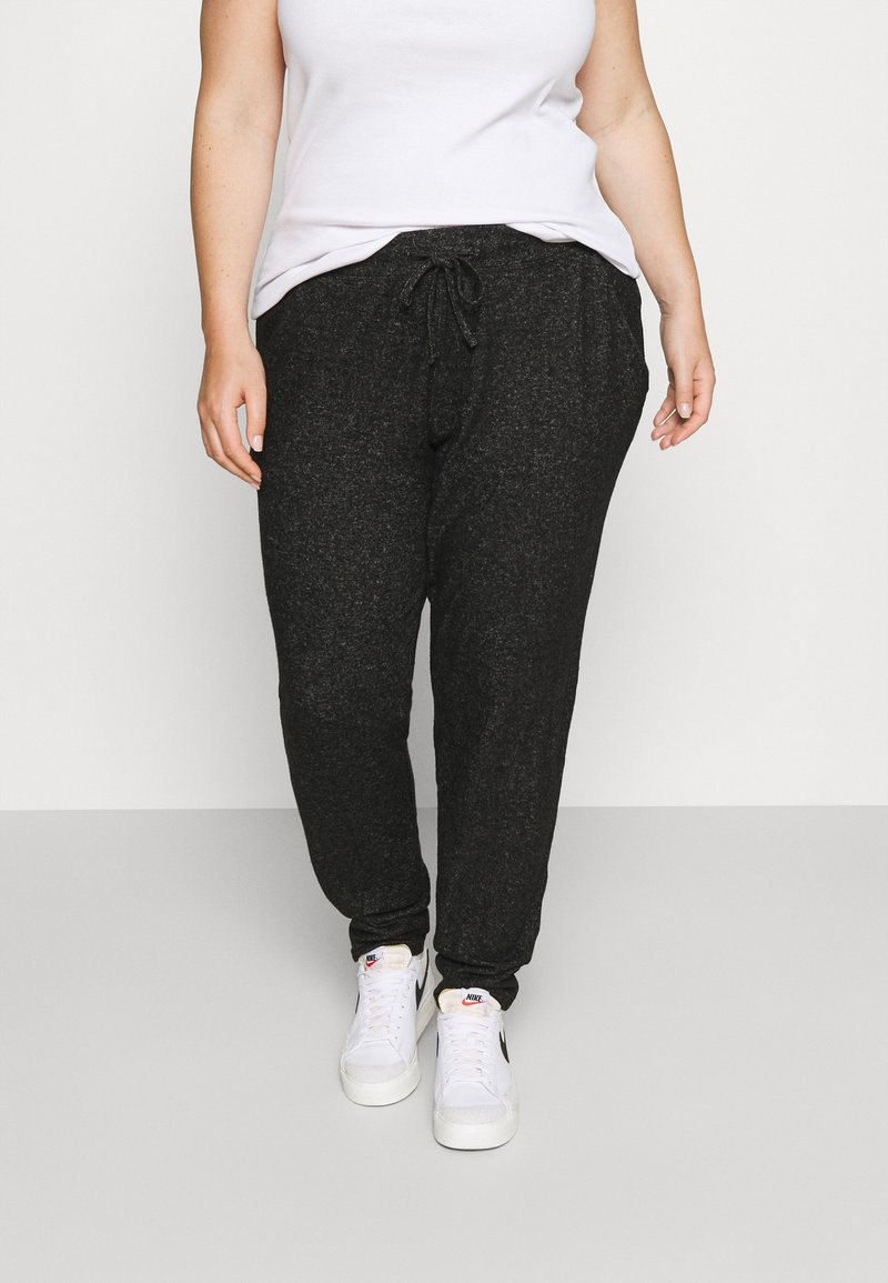 CAPSULE by Simply Be - SOFT TOUCH JOGGER - Tracksuit bottoms - charcoal marl