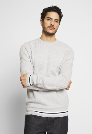 CHEVRON TEXTURE CREW - Jumper - grey