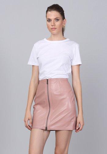 Leather skirt - powder