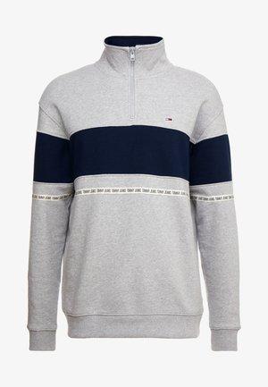 TAPE ZIP MOCK NECK - Sweatshirt - grey