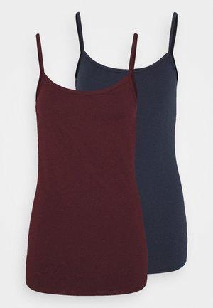 SPAGHETTITOP 2 PACK - Caraco - blue/dark red