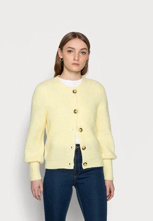 ONLCLARE O NECK PETIT - Cardigan - pastel yellow melange