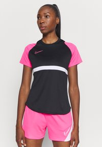 Nike Performance - DRY - Print T-shirt - black/hyper pink/white - 3