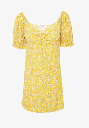 BUTTON MILKMAID TEA DRESS - Day dress - ochre