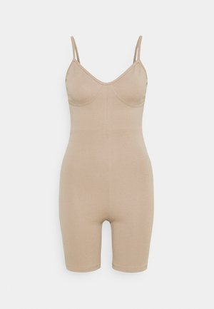 SPORTY LOOK PLAYSUIT - Jumpsuit - beige