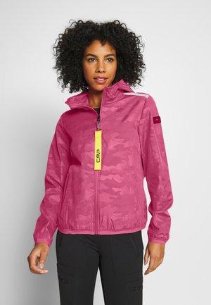 WOMAN JACKET FIX HOOD - Hardshell jacket - bouganville