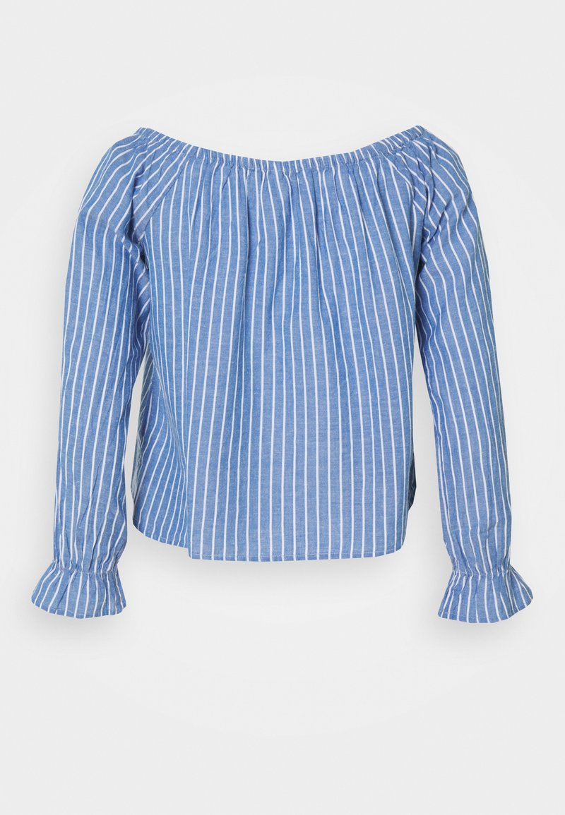 ONLY - ONLMARTHA OFFSHOULDER - Blouse - cashmere blue/cloud dancer