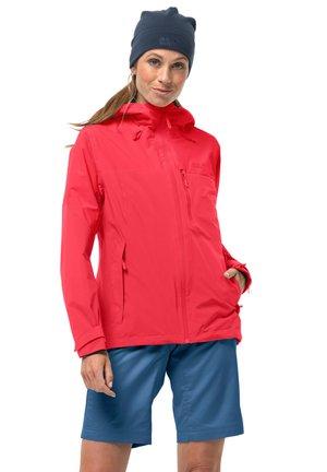 Hardshell jacket - tulip red