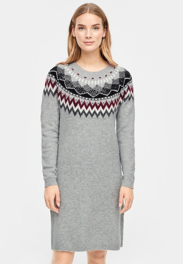 MIT NORWEGERMUSTER - Jumper dress - grey