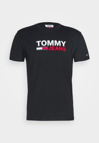Tommy Jeans - CORP LOGO TEE - Print T-shirt - black - 4