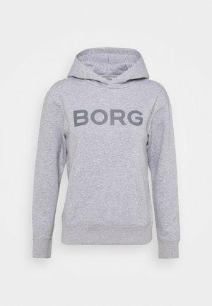 LOGO HOOD - Sweatshirt - light grey melange