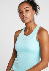 Nike Performance - DRY TANK - Sportshirt - light aqua/white - 4