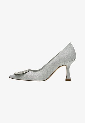 Classic heels - silver-coloured
