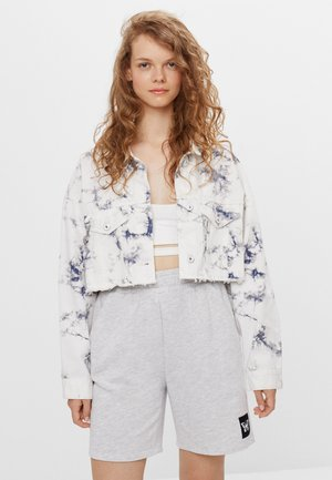 CROPPED MIT TIE-DYE-PRINT  - Summer jacket - white