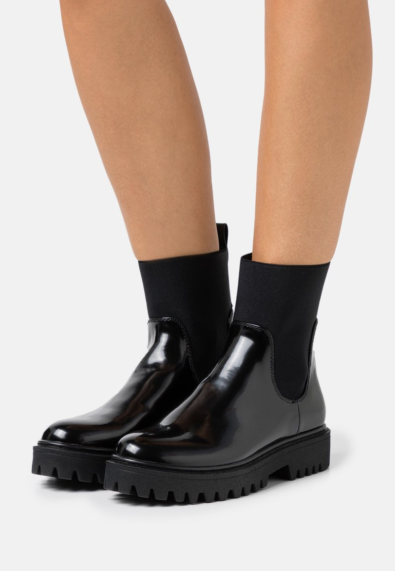 Even&Odd - Platform ankle boots - black