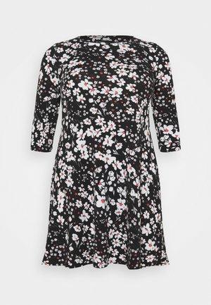 3/4 SLEEVE SWING DRESS - Jersey dress - white