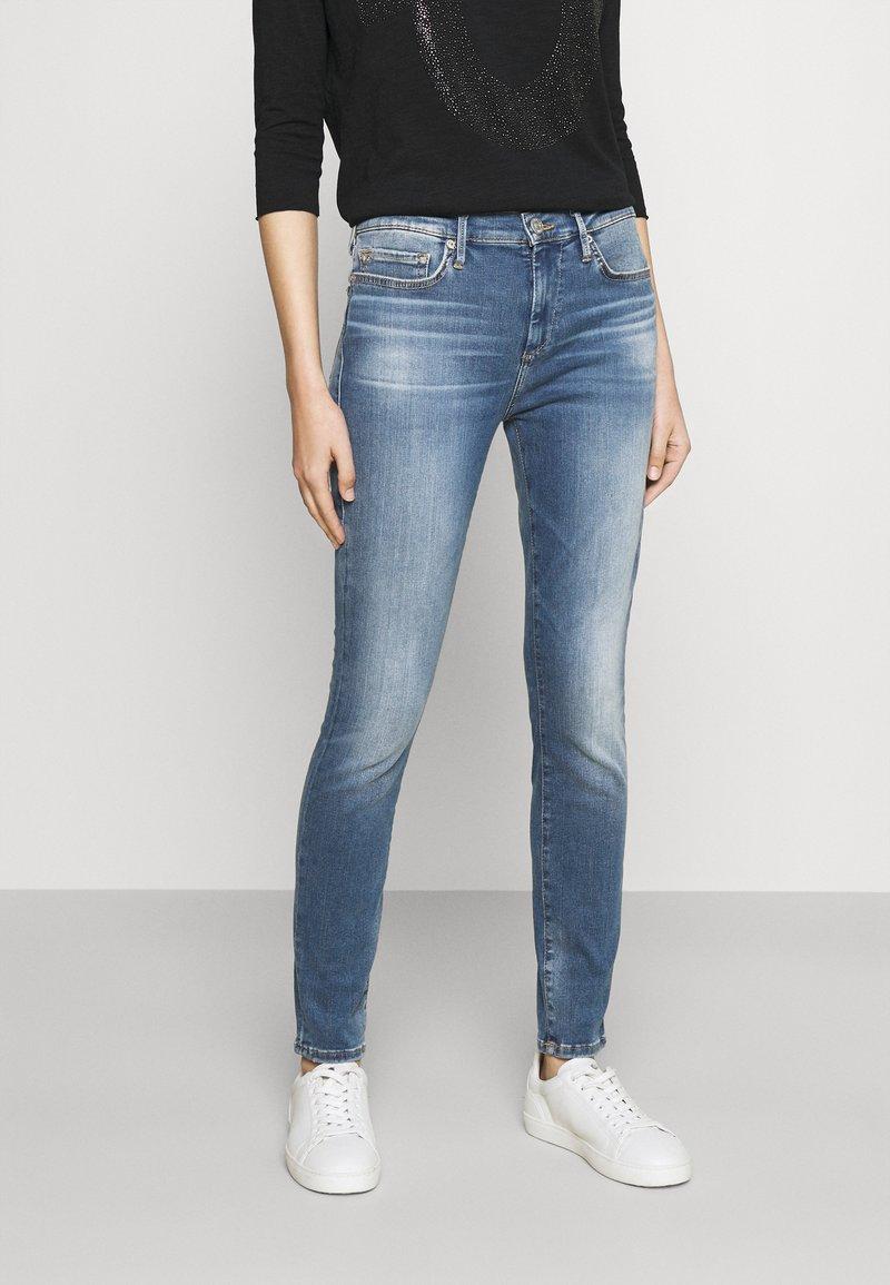 True Religion - HIGHRISE HALLE - Jeans Skinny Fit - denim blue