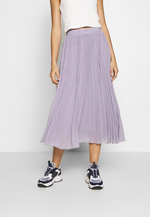 ANKLE LENGTH PLEATED SKIRT - A-Linien-Rock - purple