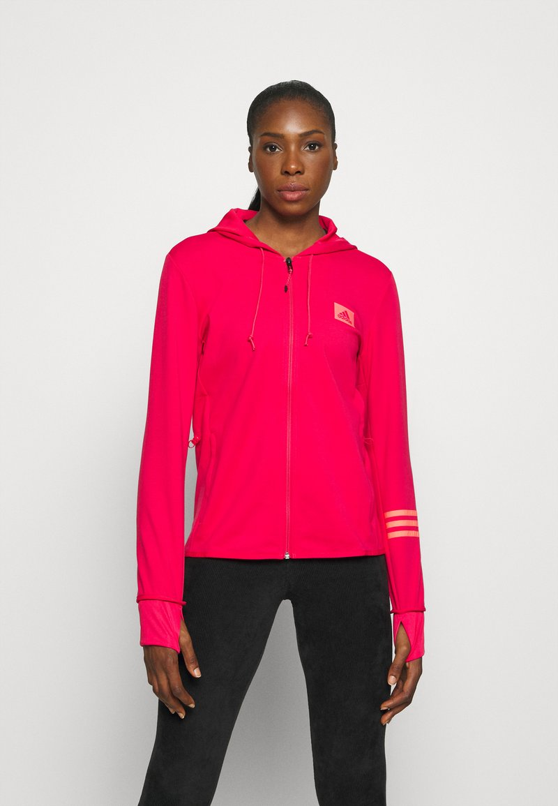 adidas Performance - Zip-up hoodie - power pink/signal pink