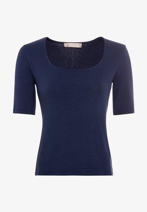 MIT KARREE - Basic T-shirt - tintenblau