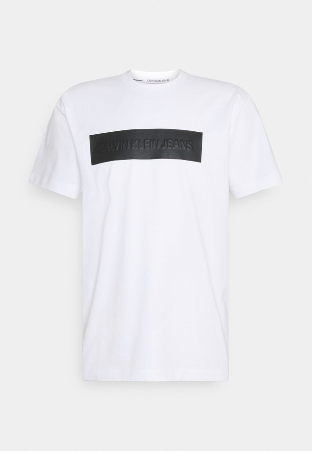 BLOCKING LOGO TEE - T-shirt con stampa - white
