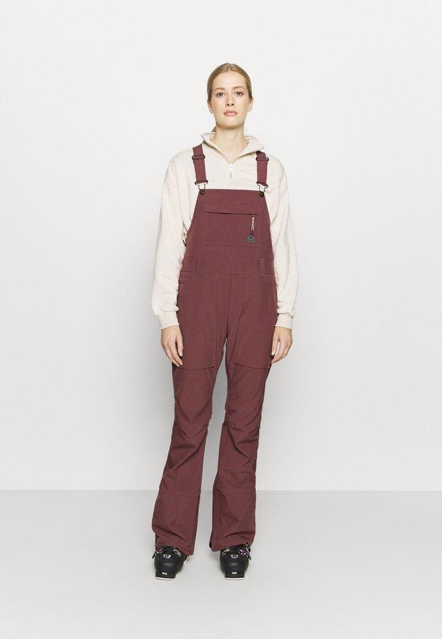AVALON BIB - Zimní kalhoty - rose brown