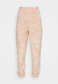 New Look - TEDDY JOGGERS - Tracksuit bottoms - camel - 3