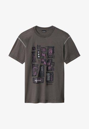 S-KEE - Print T-shirt - grey gargoyle