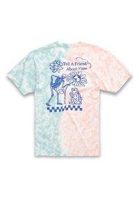 Vans - MN TELL A FRIEND TIE DYE SS - Print T-shirt - fusion coral/cameo blue - 3