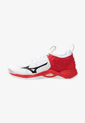 WAVE MOMENTUM - Volleyball shoes - white/black/red