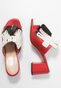 Mulberry - Heeled mules - rosso/nero/riso - 3