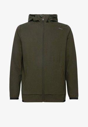 Sweat à capuche zippé - military green