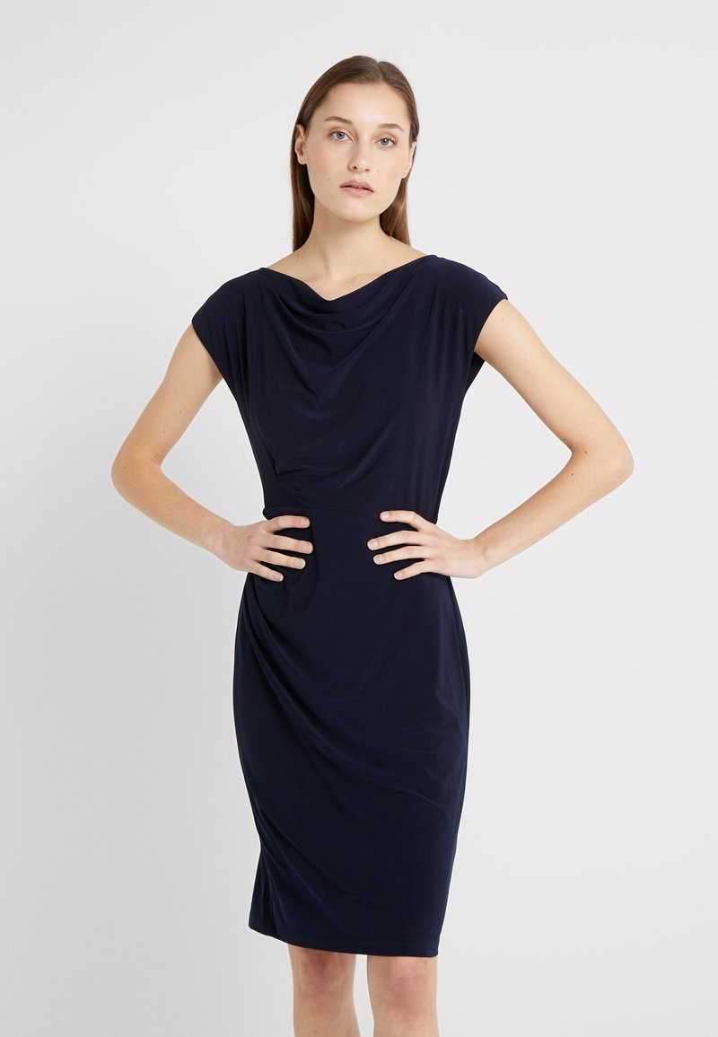 Lauren Ralph Lauren - MID WEIGHT DRESS - Shift dress - lighthouse navy