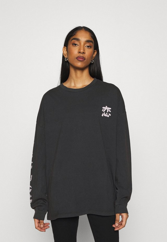 KOI FISH SKATE - Longsleeve - washed black