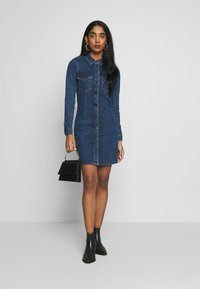 JDY - JDYSANNA DRESS - Denim dress - medium blue denim - 1