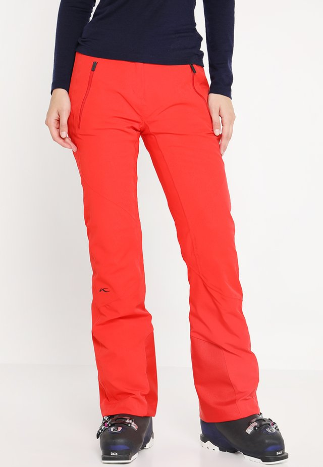 WOMEN FORMULA PANTS - Snow pants - fiery red