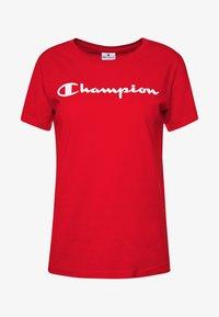 Champion - CREWNECK - T-shirt z nadrukiem - red - 3