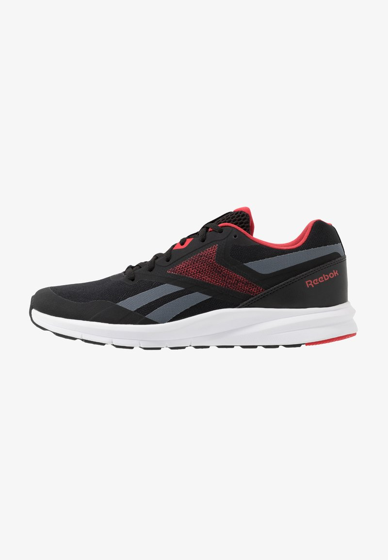 Reebok - RUNNER 4.0 - Obuwie do biegania treningowe - black/true grey/exclusiv red