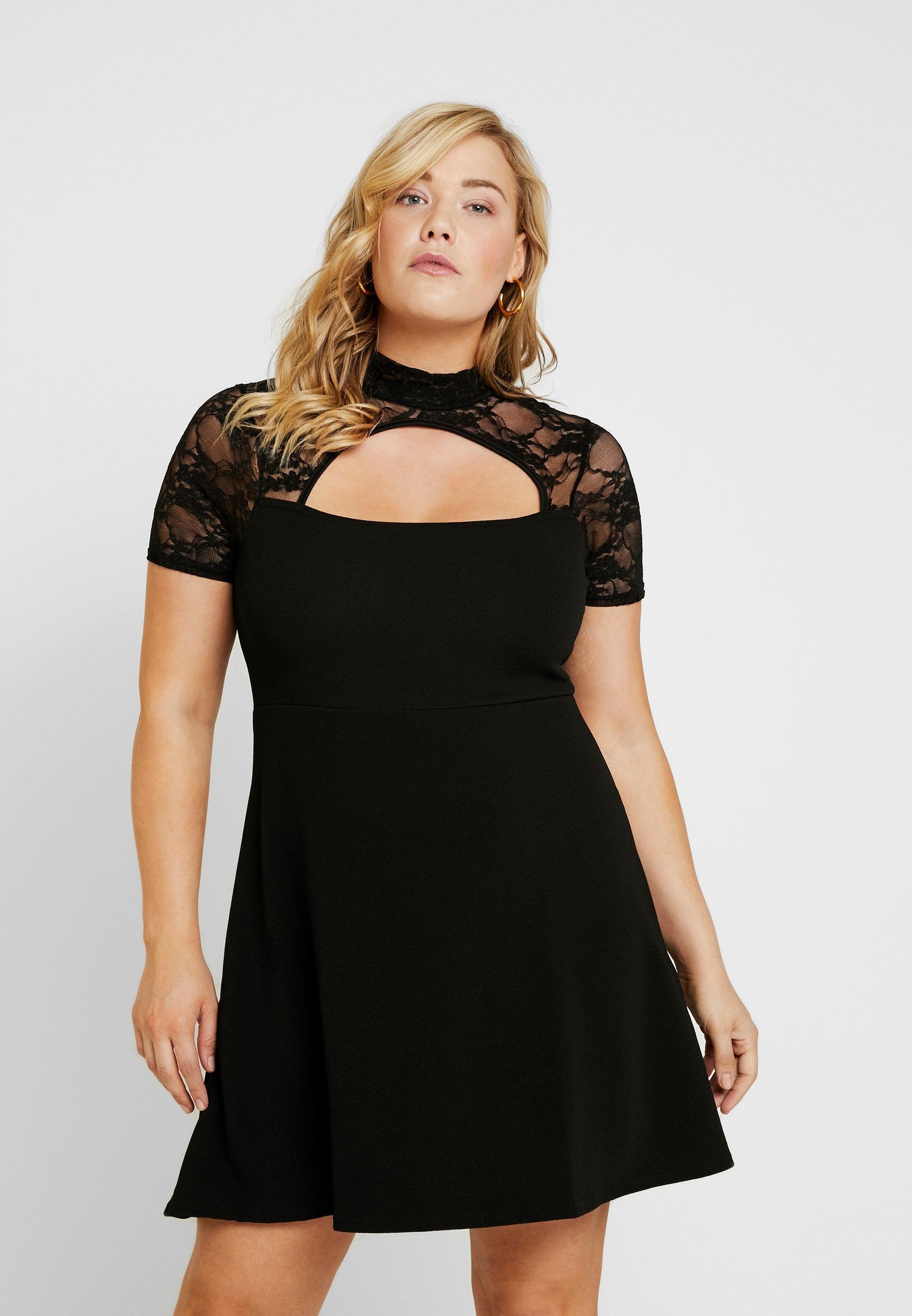 Damen FRONT KEYHOLE DRESS - Jerseykleid