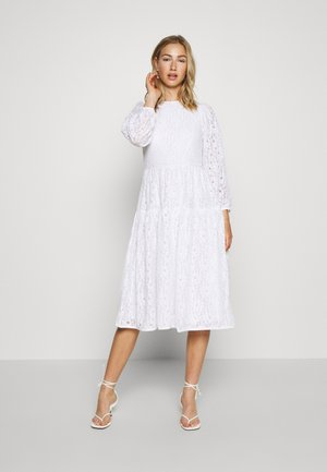 PUFF SLEEVE DRESS - Denní šaty - white