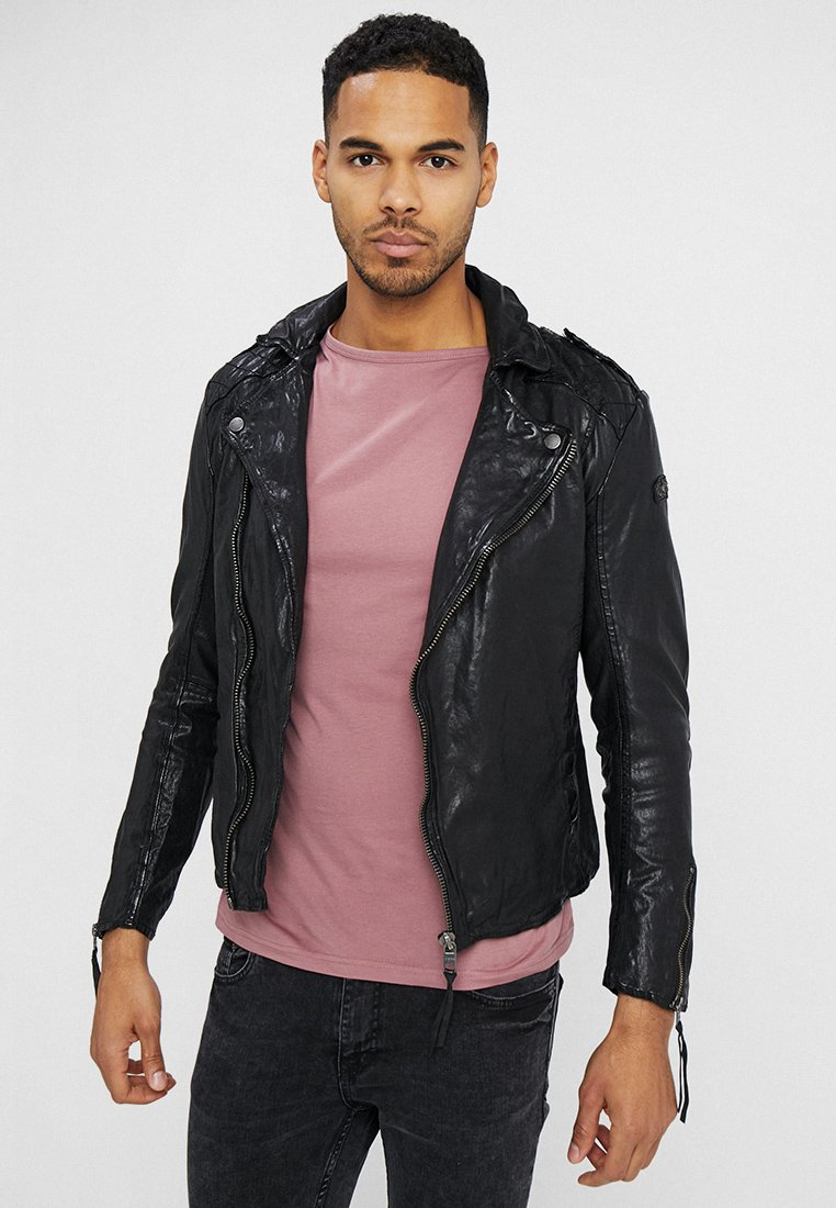 Tigha - ELON - Leather jacket - black