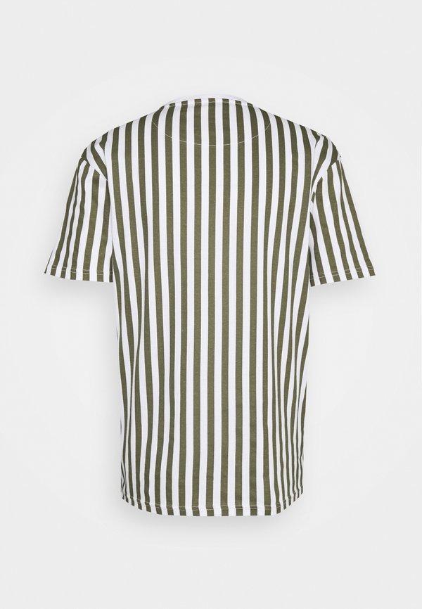 Nominal STRIPE TEE - T-shirt z nadrukiem - white/biały Odzież Męska FLGJ