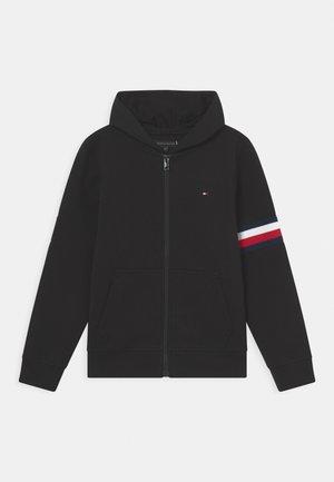 EMBOSSED ZIP THROUGH - Zip-up sweatshirt - black