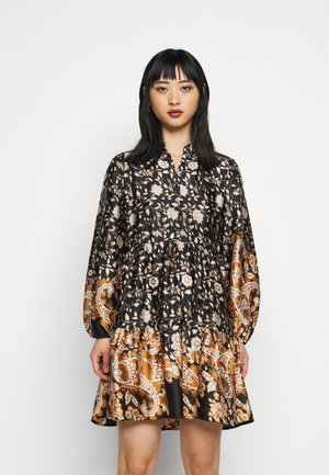 OBJKARIN DEIRDRE DRESS - Day dress - brown
