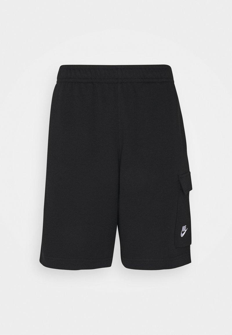 Nike Sportswear - CLUB CARGO - Shorts - black/white