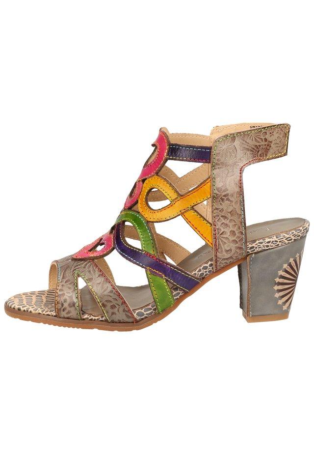 LAURA VITA SANDALEN - Sandalen met enkelbandjes - gris