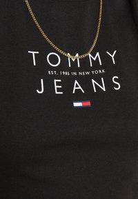 Tommy Jeans - LOGO TANK DRESS - Etuikjole - black - 5