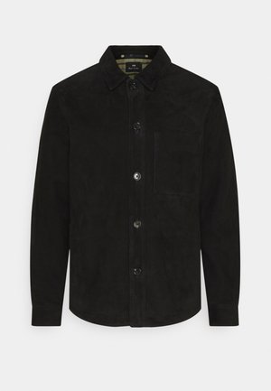 MENS JACKET - Kožená bunda - black