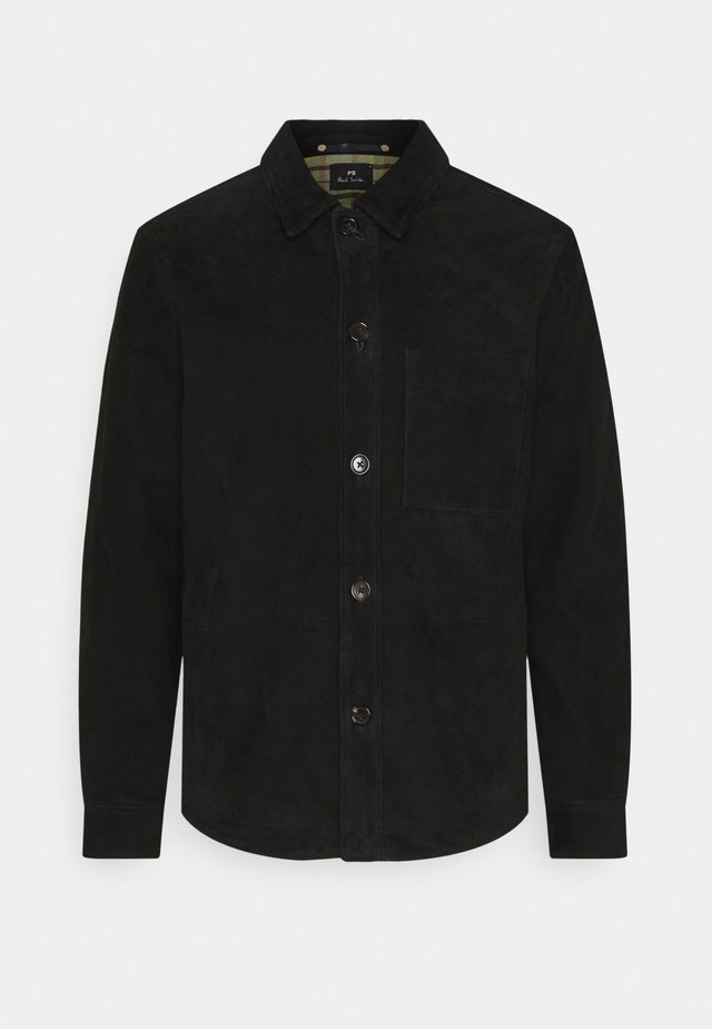MENS JACKET - Veste en cuir - black